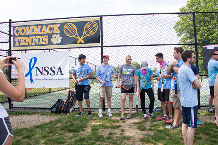 NSSA – Commack High School Tennis Team Aces Autism Awareness