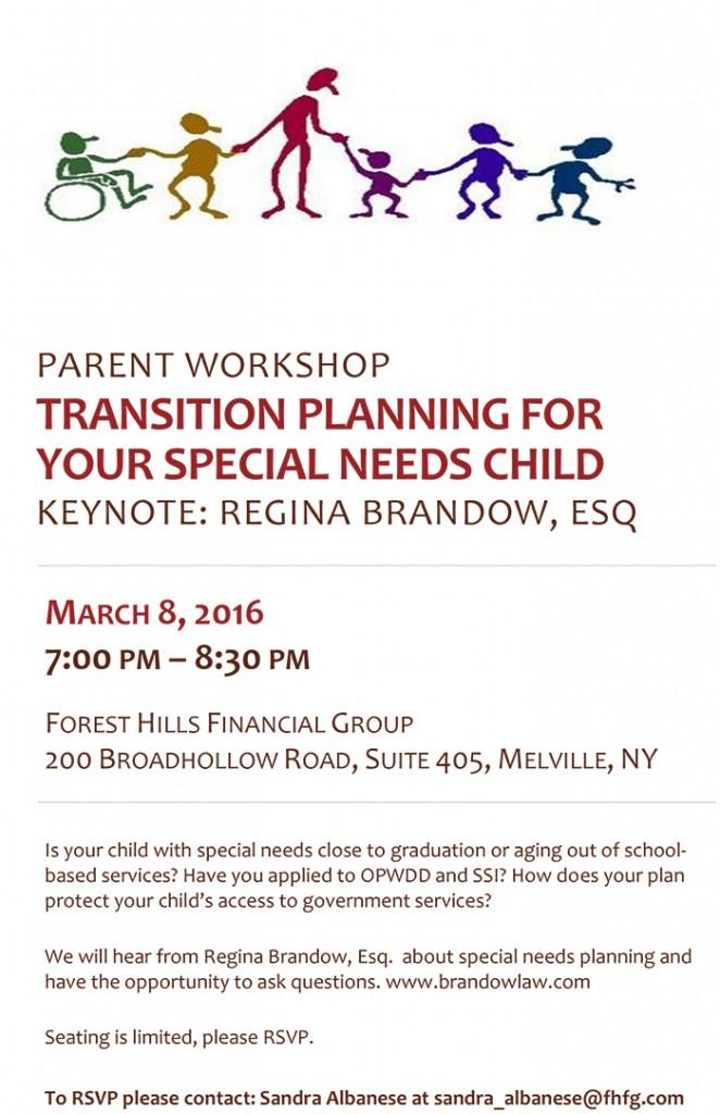 Parent Workshop Invite 3.8.16