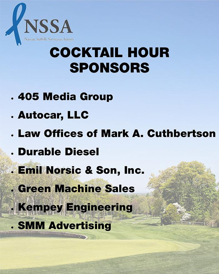 Dinner Raffle Cocktail Sponsors Sign 24x30 blogsized