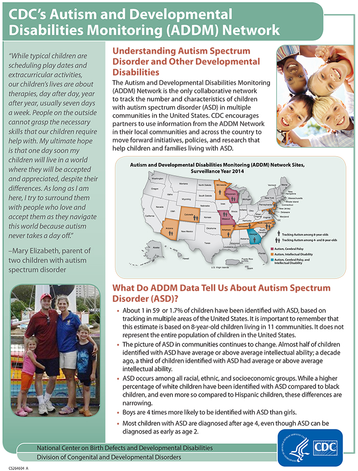 CDC's Autism and Developmental Disabilities Monitoring (ADDM)
