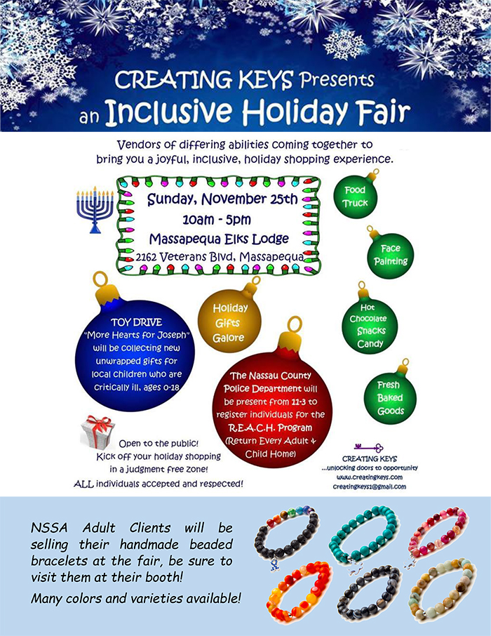 Creative Keys Holiday Fair NSSA flyer websized